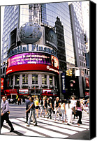 Times Square Digital Art Canvas Prints - Times Square Corner Canvas Print by Linda  Parker