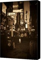 Streetscene Canvas Prints - Times Square Canvas Print by Debbi Granruth