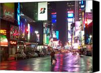 Times Square Photo Canvas Prints - Times Square in the rain 2 Canvas Print by Anita Burgermeister
