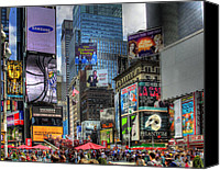 Times Square Digital Art Canvas Prints - Times Square Canvas Print by Joe Paniccia