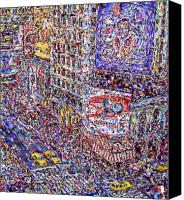 Marilyn Sholin Canvas Prints - Times Square Canvas Print by Marilyn Sholin
