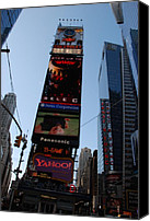 Times Square Digital Art Canvas Prints - Times Square Canvas Print by Rob Hans