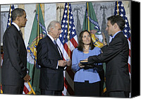 Bswh052011 Canvas Prints - Timothy Geithner Sworn-in As Secretary Canvas Print by Everett