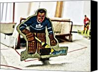 Vintage Hockey Player Canvas Prints - Tin Goalkeeper Canvas Print by Nathan  Brend