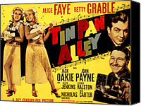 Fod Canvas Prints - Tin Pan Alley, Alice Faye, Betty Canvas Print by Everett