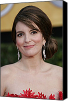 Dangly Earrings Canvas Prints - Tina Fey At Arrivals For 17th Annual Canvas Print by Everett