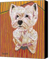 Westie Canvas Prints - Tiny Dancer Canvas Print by David  Hearn