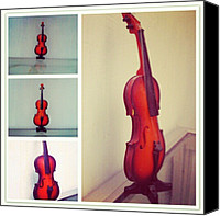 Violin Canvas Prints - Tiny Violin #violin #music #orchestra Canvas Print by Ilham Hanifil Ishom