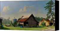 Country Scenes Painting Canvas Prints - Tired and Retired Canvas Print by Doug Strickland