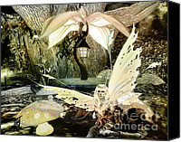 Rosy Hall Digital Art Canvas Prints - Tired Fae Canvas Print by Rosy Hall