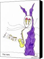 Sax Art Painting Canvas Prints - Tis Sax Lady Canvas Print by Tis Art