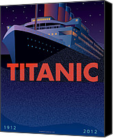 Historic Canvas Prints - TITANIC 100 years Commemorative Canvas Print by Leslie Alfred McGrath