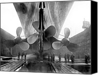 Worker Canvas Prints - Titanic Propellers 1911 Canvas Print by Stefan Kuhn