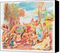 Gary Peterson Canvas Prints - Titian Bacchanalia Color Canvas Print by Gary Peterson