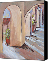 Tlaquepaque Canvas Prints - Tlaquepaque Arches Canvas Print by Sandy Tracey