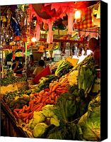 Tlaquepaque Canvas Prints - Tlaquepaque Market Stall Canvas Print by Olden Mexico