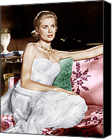 1950s Movies Canvas Prints - To Catch A Thief, Grace Kelly, 1955 Canvas Print by Everett