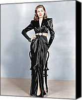 Satin Dress Canvas Prints - To Have And Have Not, Lauren Bacall Canvas Print by Everett