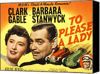 1950 Movies Canvas Prints - To Please A Lady, Barbara Stanwyck Canvas Print by Everett