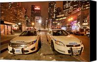 New York City Police Canvas Prints - To Serve And Protect Canvas Print by Evelina Kremsdorf