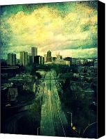 Textures Canvas Prints - To the City Canvas Print by Cathie Tyler