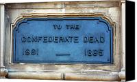 1861 Canvas Prints - To the Confederate Dead Canvas Print by John Rizzuto