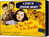 1948 Movies Canvas Prints - To The Ends Of The Earth, Dick Powell Canvas Print by Everett
