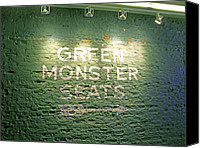 Ball Canvas Prints - To the Green Monster Seats Canvas Print by Barbara McDevitt