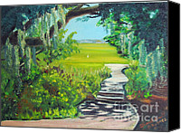 Diane Hewitt Canvas Prints - To The Marsh Canvas Print by Diane Hewitt