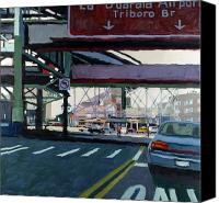 City Canvas Prints - To The Triboro Canvas Print by Patti Mollica