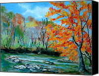 Mountains Pastels Canvas Prints - Toccoa River Canvas Print by Pete Maier