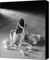 Ballet Canvas Prints - Toe shoe Canvas Print by Tony Cordoza