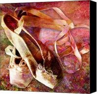 Ballet Slippers Canvas Prints - Toe Shoes Canvas Print by Barbara Berney