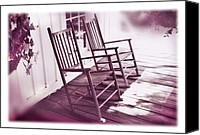 Rocking Chairs Photo Canvas Prints - Together Forever Canvas Print by Mal Bray