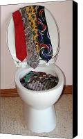 Found Objects Sculpture Canvas Prints - Toilet Ties Canvas Print by Alex Mortensen