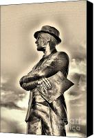 Dallas Cowboys Canvas Prints - Tom Landry Sepia Canvas Print by Amanda Starr