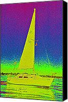 First Star Art By Jrr Canvas Prints - Tom Rays Sailboat Canvas Print by First Star Art