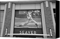 Ballpark Digital Art Canvas Prints - TOM SEAVER 41 in BLACK AND WHITE Canvas Print by Rob Hans