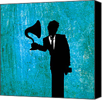 Singer Digital Art Canvas Prints - Tom Waits Canvas Print by Janina Aberg