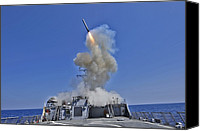 Bswh Canvas Prints - Tomahawk Cruise Missile Launched Canvas Print by Everett