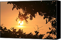 Thomas Pyrography Canvas Prints - Tomas Point Sunset Canvas Print by Valia Bradshaw
