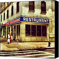 Nyc Canvas Prints - Toms Restaurant. #seinfeld Canvas Print by Luke Kingma