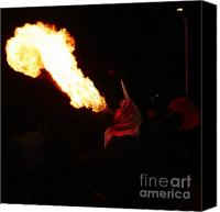 Pyrotechnics Canvas Prints - Tongue of fire Canvas Print by Agusti Pardo Rossello