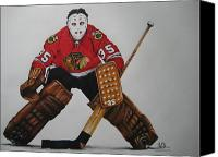 Hockey Sweater Canvas Prints - Tony Esposito Canvas Print by Brian Schuster