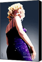 Norma Jean Canvas Prints - Too High to Climb - Monroe Canvas Print by Reggie Duffie