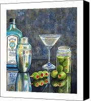 Olive Canvas Prints - Too Many Doubles Canvas Print by Karen Fleschler