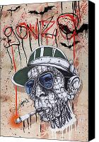 Ink Drawing Canvas Prints - Too Weird to Live Too Rare to Die Canvas Print by Iosua Tai Taeoalii