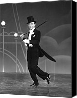 1935 Movies Canvas Prints - Top Hat, Fred Astaire, 1935 Canvas Print by Everett