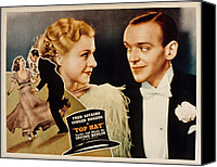 1935 Movies Canvas Prints - Top Hat, Lobbycard, Ginger Rogers, Fred Canvas Print by Everett