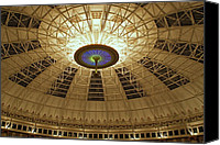 West Baden Canvas Prints - Top of the Dome Canvas Print by Sandy Keeton